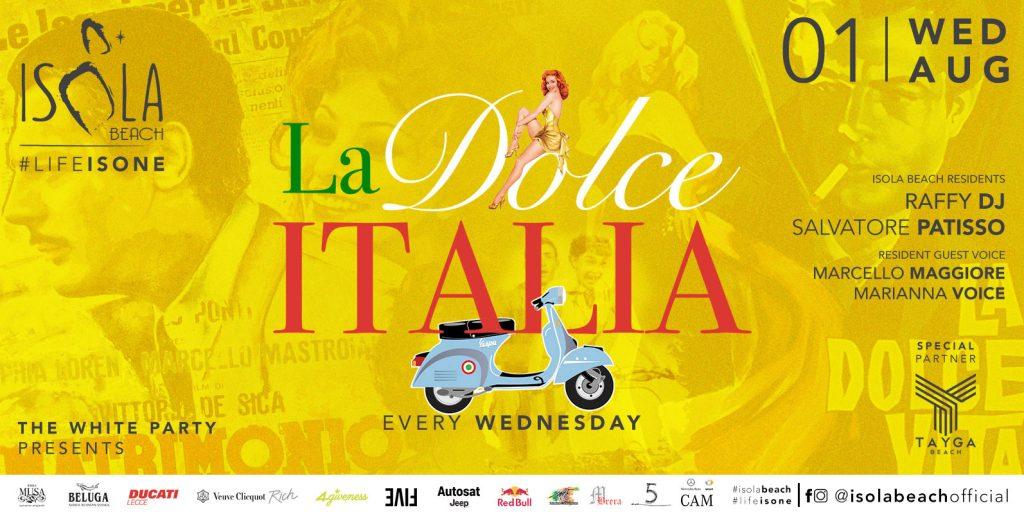 LA DOLCE ITALIA 01.08.18