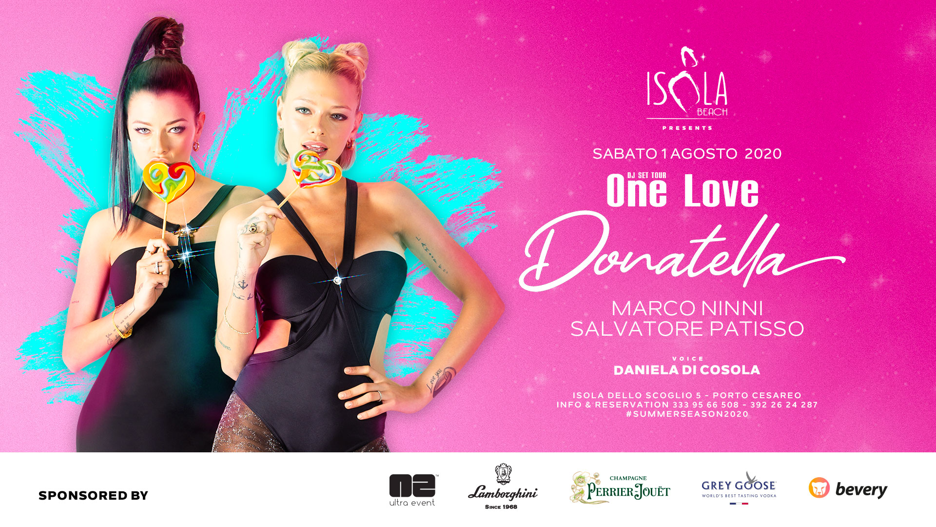 LE DONATELLA & ONE LOVE | 01.08.20