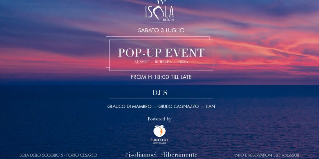 POP UP EVENT | 03.07.21